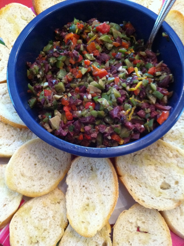 Tapenade with crostini