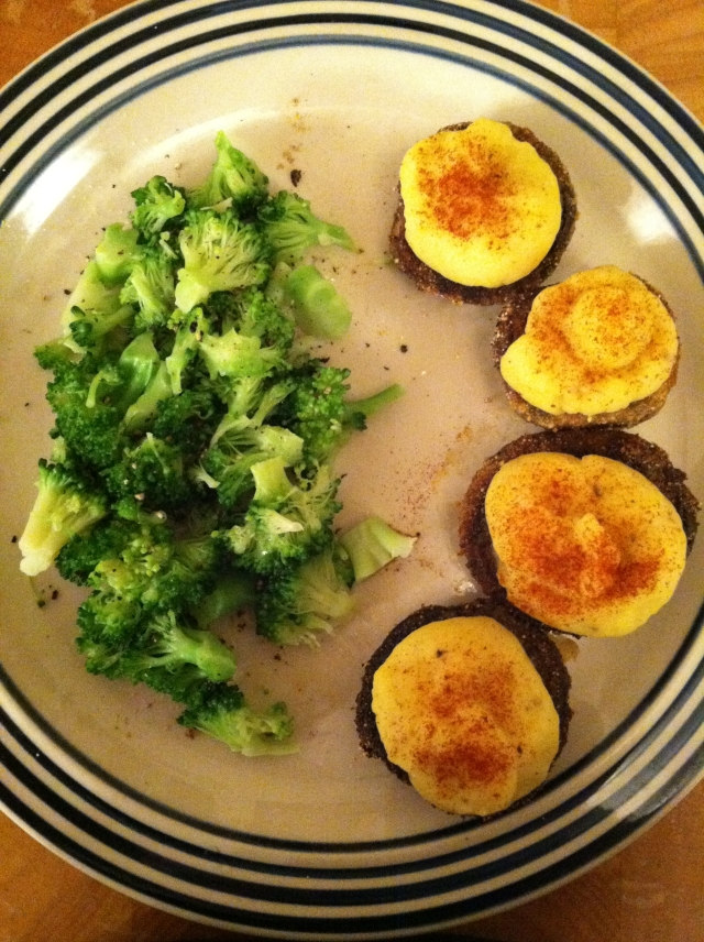 Potato Stuffed Mushrooms 012