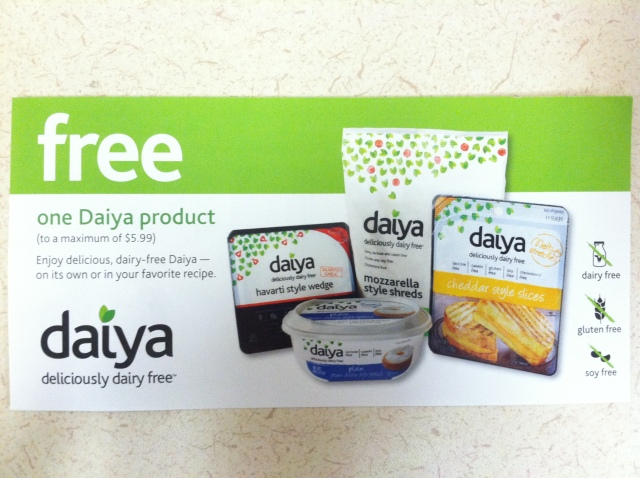 Daiya Coupon