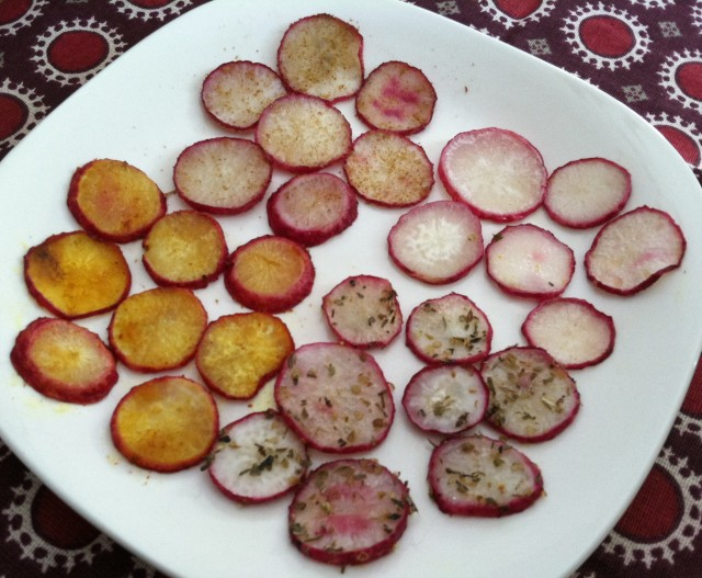 Roasted Radish Chips