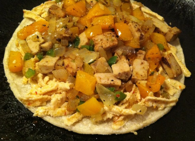 Spicy Chicken Quesadillas 002